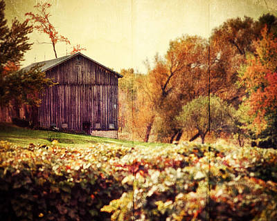 Sepia Vintage Farmhouse Photograph - Rustic by Lisa Russo