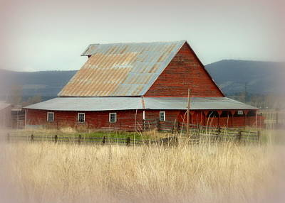 Photograph - Rustic Red Barn by Cindy Wright
