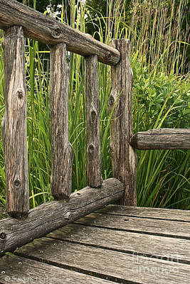 Photograph - Rustic Seating by Susan Herber