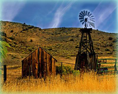 Rustic Windmill Art Print by Marty Koch