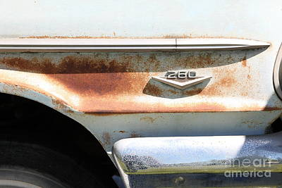1964 Ford Emblem Photograph - Rusty 1964 Ford Fairlane . 5d16188 by Wingsdomain Art and Photography