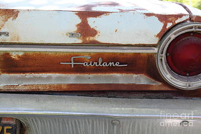 1964 Ford Emblem Photograph - Rusty 1964 Ford Fairlane . 5d16191 by Wingsdomain Art and Photography