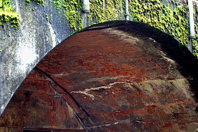 Photograph - Rusty Arch Wall by Marie Jamieson