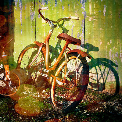 Rusty Bikes Art Print by Sonja Quintero