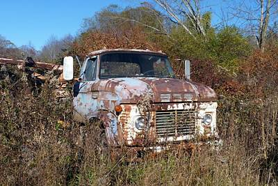 Photograph - Rusty Blue Truck by Carla Parris