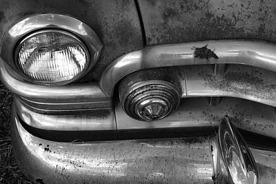 Rusty Cadillac Detail Print by Lyle Hatch