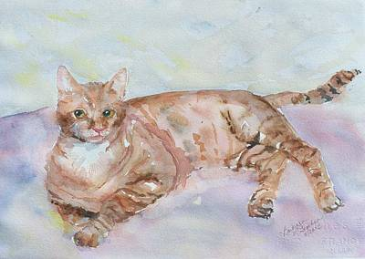 Painting - Rusty Cat by Barbara McGeachen