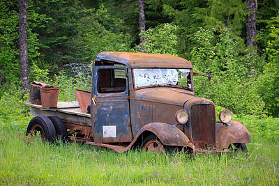 Art Print featuring the photograph Rusty Chevy by Steve McKinzie