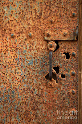 Photograph - Rusty Door by Nancy Greenland