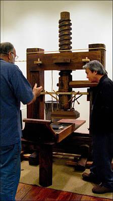 Photograph - Rusty Explains Gutenberg Press by Glenn Bautista