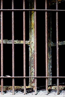 Photograph - Rusty Iron Window Bars by Marie Jamieson