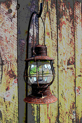 Photograph - Rusty Lantern  by Bob Whitt