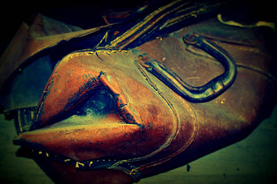 Photograph - Rusty Leather Satchel by Diane montana Jansson