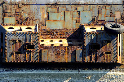 Photograph - Rusty Metal At The Docks by Nancy Greenland