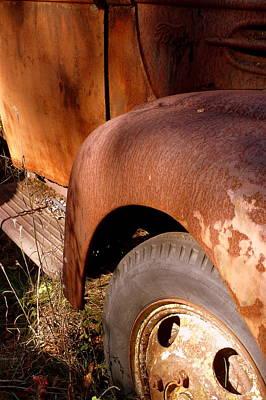 Photograph - Rusty Mudguard by Carla Parris