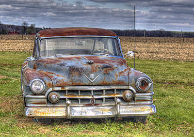 Art Print featuring the photograph Rusty Old Cadillac - Torcwori by Peter Ciro