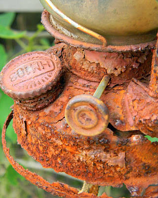 Photograph - Rusty Old Lantern by Mark J Seefeldt