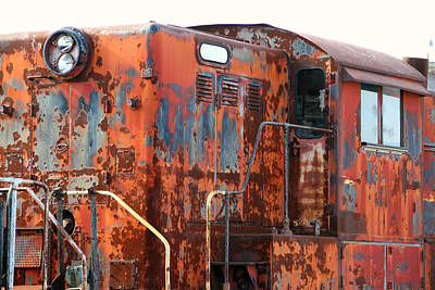 Photograph - Rusty Orange Engine by Mark J Seefeldt