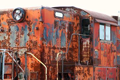 Photograph - Rusty Orange Engine by Mark J Seefeldt