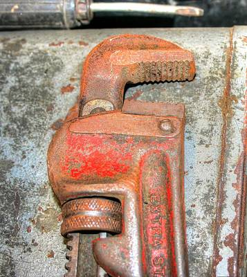 Rusty Pipe Wrench Art Print by Ester  Rogers