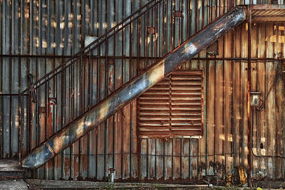 Rusty Stairway Art Print