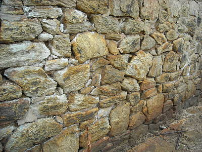 Photograph - Rusty Stone Wall by Christophe Ennis