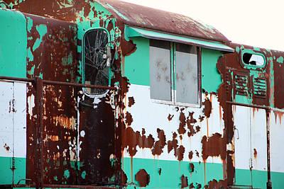 Photograph - Rusty Teal Treasure by Mark J Seefeldt