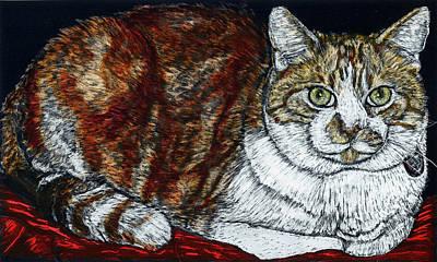 Rusty The Cat Art Print
