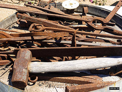 Photograph - Rusty Tools by Methune Hively
