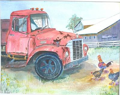 Painting - Rusty Truck by Christine Lathrop