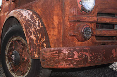 Photograph - Rusty Truck Detail by John Stephens