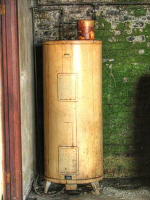 Photograph - Rusty Vintage Water Heater by Chris Anderson