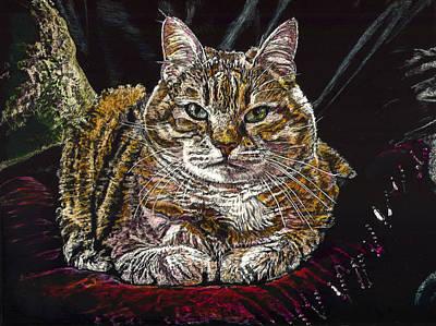 Ruthie The Cat Art Print by Robert Goudreau