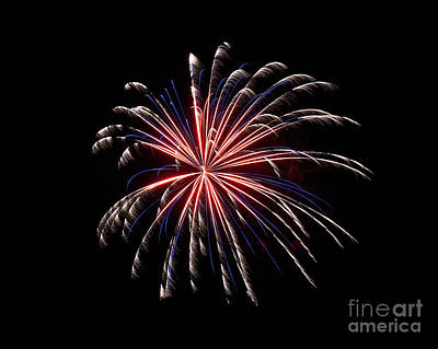 Rvr Fireworks 71 Art Print by Mark Dodd