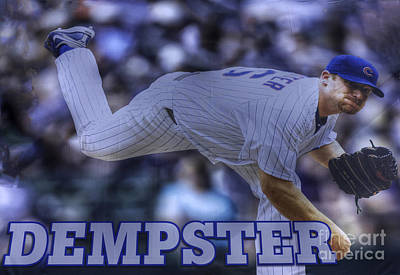 Friendly Confines Photograph - Ryan Dempster by David Bearden