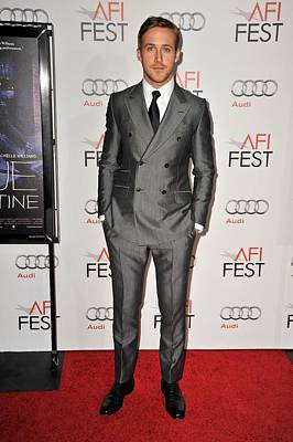 Gray Suit Photograph - Ryan Gosling At Arrivals For Afi Fest by Everett
