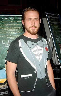 Ryan Gosling Photograph - Ryan Gosling At Arrivals For Half by Everett