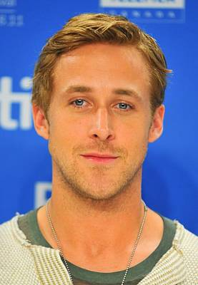 At The Press Conference Photograph - Ryan Gosling At The Press Conference by Everett