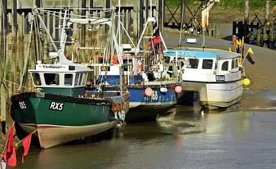 Trawler Digital Art - Rye Dock by Sharon Lisa Clarke