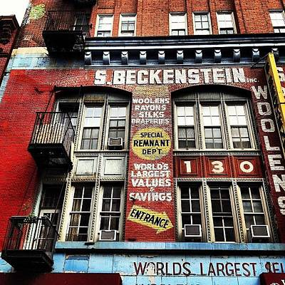 Paint Photograph - S. Beckenstein - Orchard Street - New York City by Vivienne Gucwa