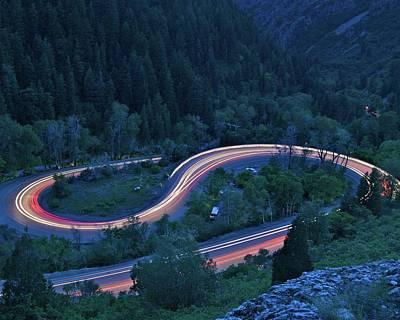 S-curve Lights Art Print by Ben Harvey Photography