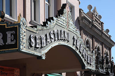 Photograph - Sabastiani Theatre - Downtown Sonoma California - 5d19288 by Wingsdomain Art and Photography