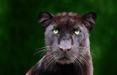Charity Digital Art - Saber by Big Cat Rescue