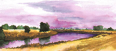 Painting - Sacramento River by Eunice Olson