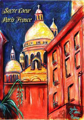 Sacre Coeur Mixed Media - Sacre Coeur Basilica by Gala Gauthier