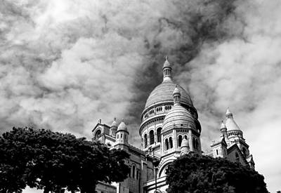 Photograph - Sacre Coeur Black And White by Andrew Fare
