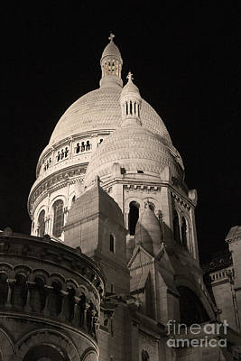 Basilica With Dome Photograph - Sacre Coeur By Night V by Fabrizio Ruggeri