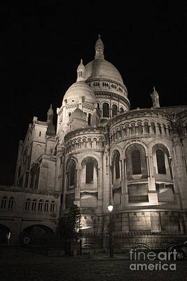 Basilica With Dome Photograph - Sacre Coeur By Night Viii by Fabrizio Ruggeri