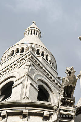 Photograph - Sacre Coeur Foreshortening With Bell Tower And Gargoyle by Fabrizio Ruggeri
