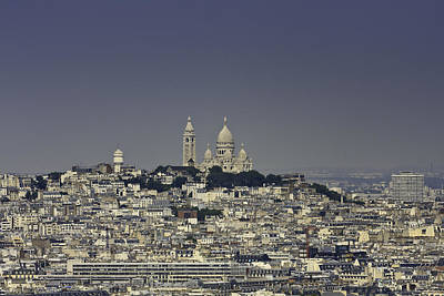 Sacre Coeur Photograph - Sacre Coeur From Eiffel Tower by Matthew Crowley Photography